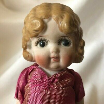 Porcelain Doll Made In Japan Frozen Charlotte Bisque VINTAGE ANTIQUE A+Condition