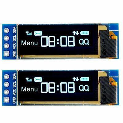 2 Pcs 0.91 Iic I2c Blue Oled Lcd Display Diy Module Dc3.3v 5v For Pic Arduino