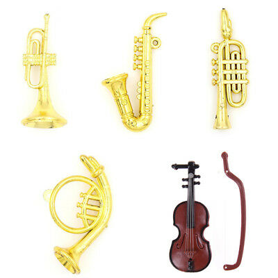 Miniature Musical Instrument Model for 1:12 Dollhouse Accessory Decor Xmas Gift