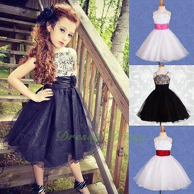 Beaded Flower Girl Dresses (Beaded Embossed Flower Girl Dresses Wedding Bridesmaid Party Kid Size 3-9)