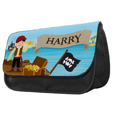Personalised Pirates Pencil Case Kids School Hook Treasure Caribbean Gift idea - Pirate Makeup Ideas