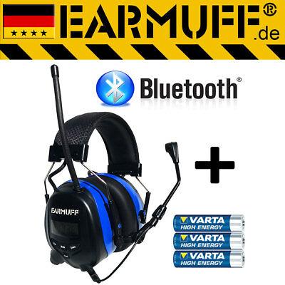 BLUETOOTH 25dB  EARMUFF Kapsel Gehörschutz Kopfhörer mit Radio für SmartPhone