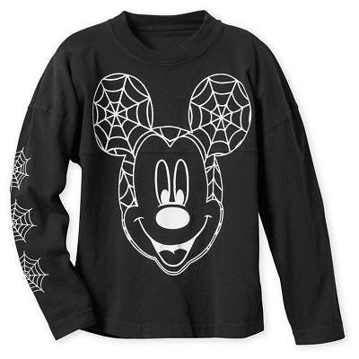DISNEY Store SPIRIT JERSEY Kids HALLOWEEN 2018 MICKEY Glow Dark Pick Size NWT