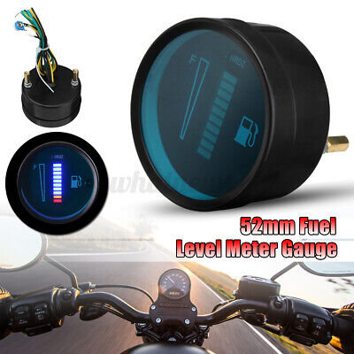 2'' 52mm Universal Car Motorcycle Display Fuel Lever Meter Gauge 0-566 OHM