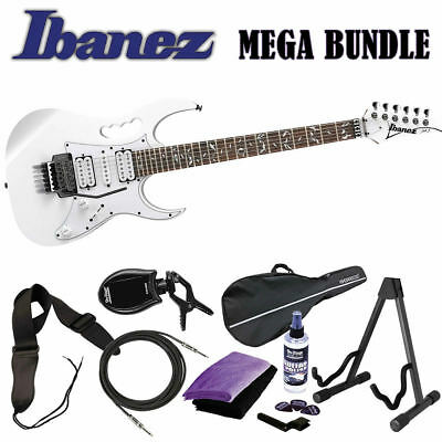 Used, Ibanez JEMJR Steve Vai White WH Guitar BRAND NEW + MEGA BUNDLE! JEM JR for sale  Nashville