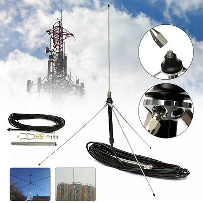 15M 0.5-30W Cable Powerful 1/4 Wavelength GP Antenna For  Watt FM Transmitter US