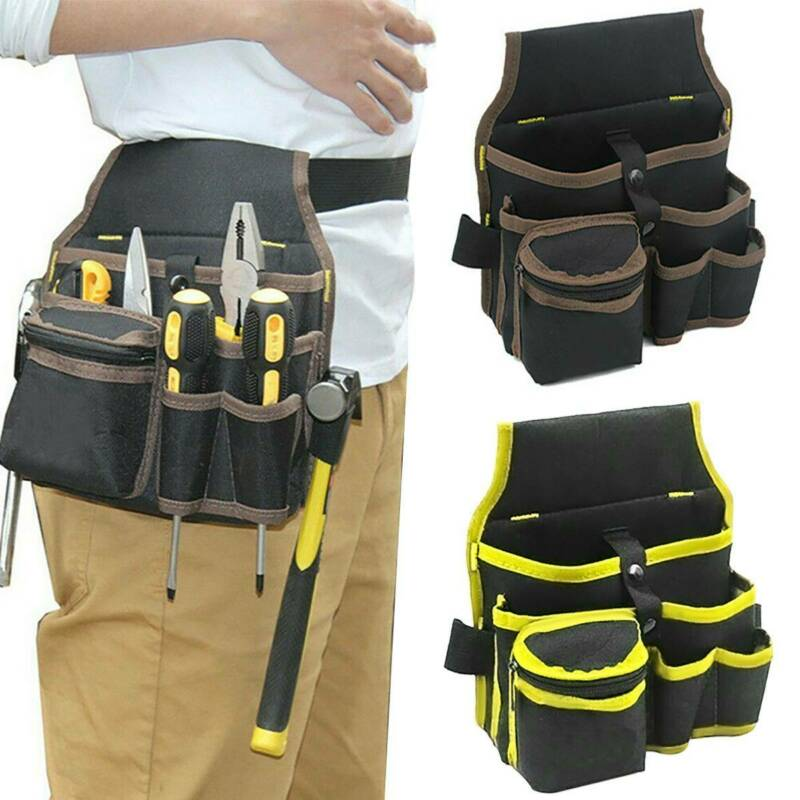 Electrician Pocket Belt Tool Pouch Bag Hardware Toolkit Hold