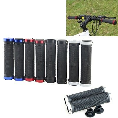 - 1 Pair Double Lock On Locking Mountain BMX Bike Bicycle Cycling Handle Bar Grips