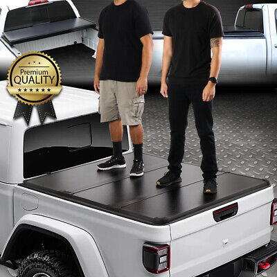 FOR 2020 JEEP GLADIATOR JT PICKUP TRUCK BED HARD SOLID TRI-FOLD TONNEAU COVER Jeep Gladiator Truck