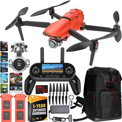 Autel EVO 2 Pro Drone Quadcopter II 6K Combo Extended Warranty Extra Battery Kit