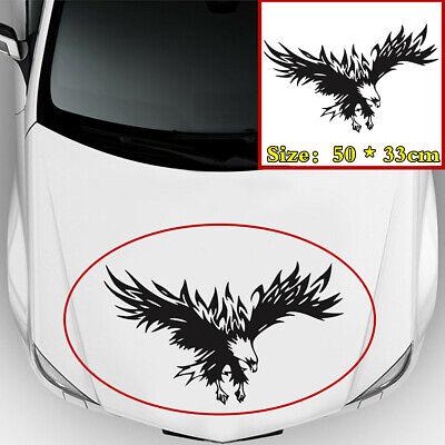 Waterproof Sunscreen Black Flying Warbird Pattern Car Bonnet Hood Decal Sticker