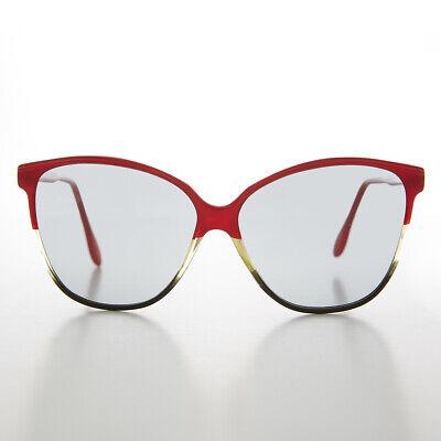 Damen Schmetterling Vintage Sonnenbrille mit Übergang Objektiv
