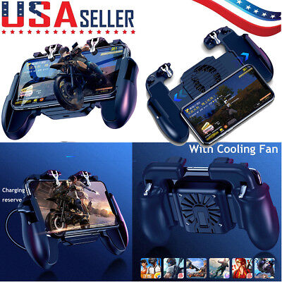 PUBG Mobile Phone Game Controller Joystick Cooling Fan Gamepad for IOS Android (Mobil Game)