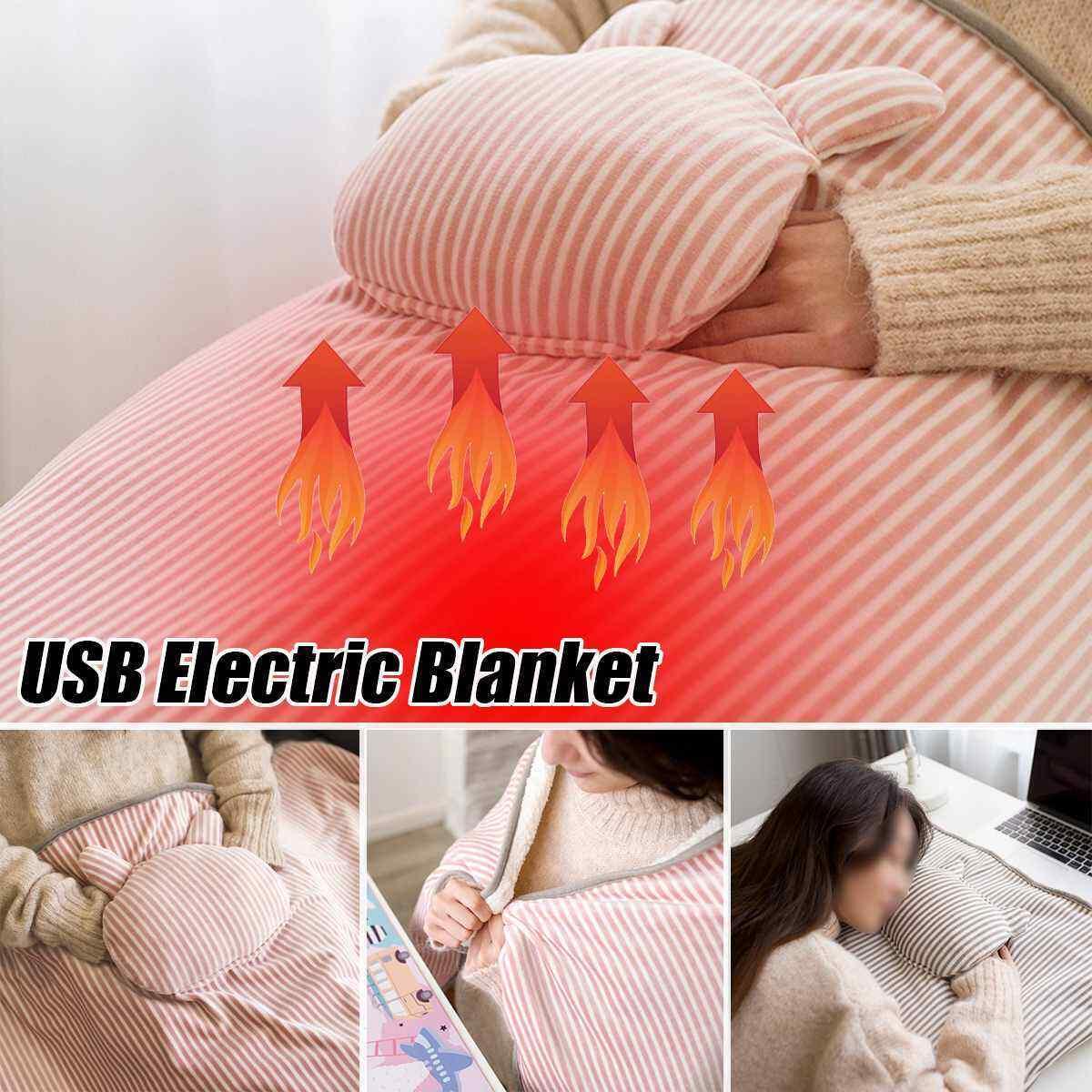 Wasserdicht Elektrisch Erhitzt Decke Essen USB charge Single-control Wärmegeräte