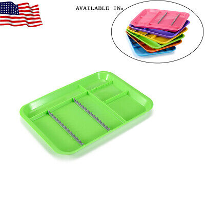 1pc Dental Instrument Tray Divided Type Compartment Holder Autoclave Easyinsmil