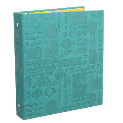 Hallmark Embossed Recipe Organizer Cooking Reference Binder With Tabs Dividers