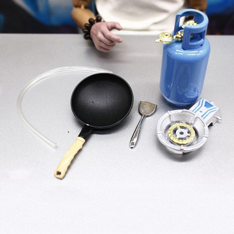5Pcs/Set 1/12 Dollhouse Miniature Kitchen Alloy Gas Stove Tank Utensil Tools
