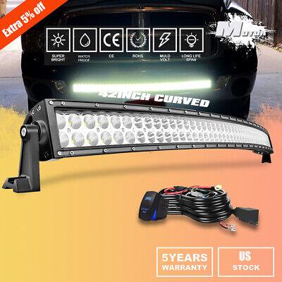 """For Dodge Ram 2500 3500 Hidden Bumper Below Mount 42"""" Curved LED Light Bar Wires"""