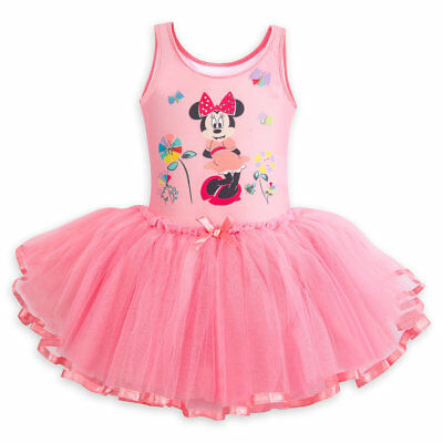 Disney Store Minnie Mouse Deluxe Leotard With Tutu Girl Size 4
