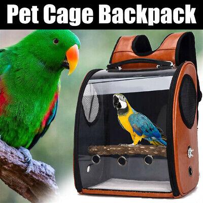 Pet Parrot Bird Carrier Travel Backpack Space Capsule Transparent Handbag