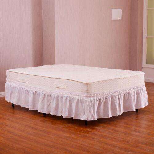 Twin/Full Size Bedroom Elastic Bed Wrap Ruffle Bed Skirt Aro