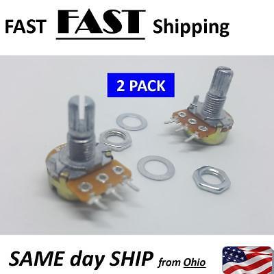 2 Pack --- 100k Ohm B100k Top Adjustment Dual Linear Potentiometer Pots Pot