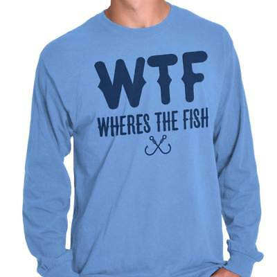 (WTF Wheres The Fish Fishing Shirt | Funny Gift Idea Sporting Long Sleeve T Shirt)