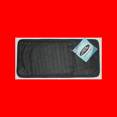 NEW 12 MP3/CD DVD MONEY CARD SLEEVE HOLDER CAR AUTO SUN CLIPS t VISOR CASE,BLACK