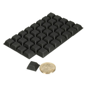 Charmant 40pcs Square Self Adhesive Rubber Feet Bumper Door Buffer Stop Leg Pad Non  Slip