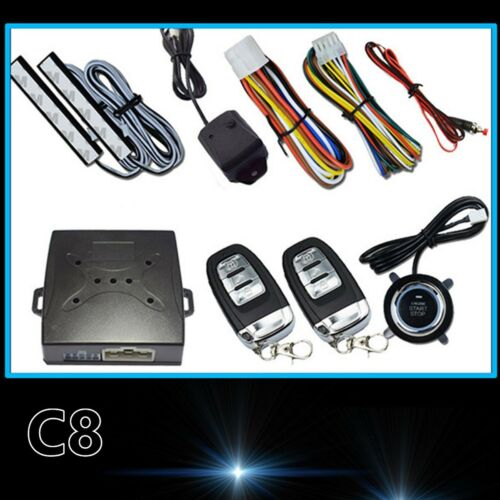 NEW Car Alarm System Security Remote Start Vibration alarm Push Button Remote C8