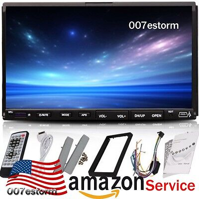 "US HD 7"" Double 2Din Touch Screen Car CD DVD MP3 Player In Dash Stereo Radio on Rummage"