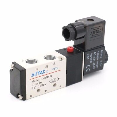 4v210-08 Dc24v 5 Way 2 Position 14 Pneumatic Air Valve Electric Solenoid Valve