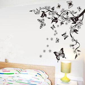 Adesivi murali wall stickers fiori farfalla alberi adesivi for Vinilos para murallas