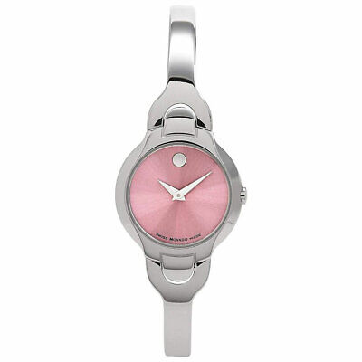 Movado Women's Watch Kara Quartz Pink Dial Stainless Steel Bracelet 0605284