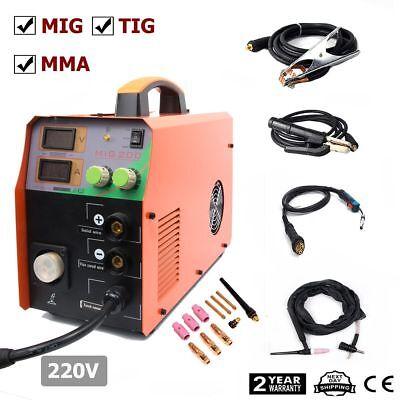 Mig200 200amp Welder Inverter Mig Welding Machine Stick Mma Tig 3in1 Torch