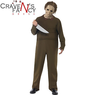 OFFICIAL Deluxe Halloween Michael Myers Costume & Knife Fancy Dress NO MASK - Michael Myers Costume