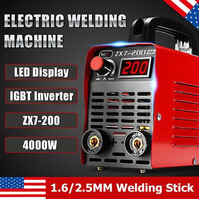 Zx7-200 200 Amp Dc Igbt Inverter Mini Digital Stick Welder Welding Machine Usa