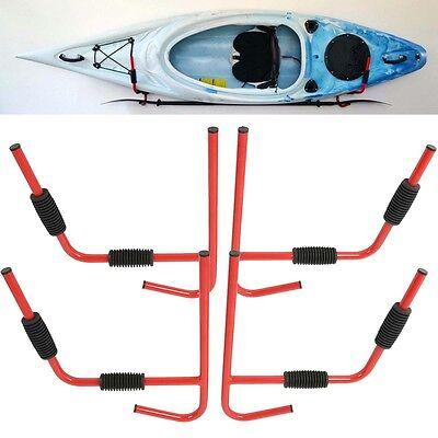2 Pairs Kayak Ladder Wall Mount Storage Rack Surfboard Canoe Folding Hanger