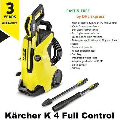 Kärcher K4 Full Control 1800W Pressure Washer Car Bike Patio Garden Home Cleaner
