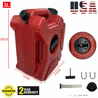 0.8gallon3l Fuel Can Gas Fuel Tank Petrol Motorcycle Car Storage Container Us