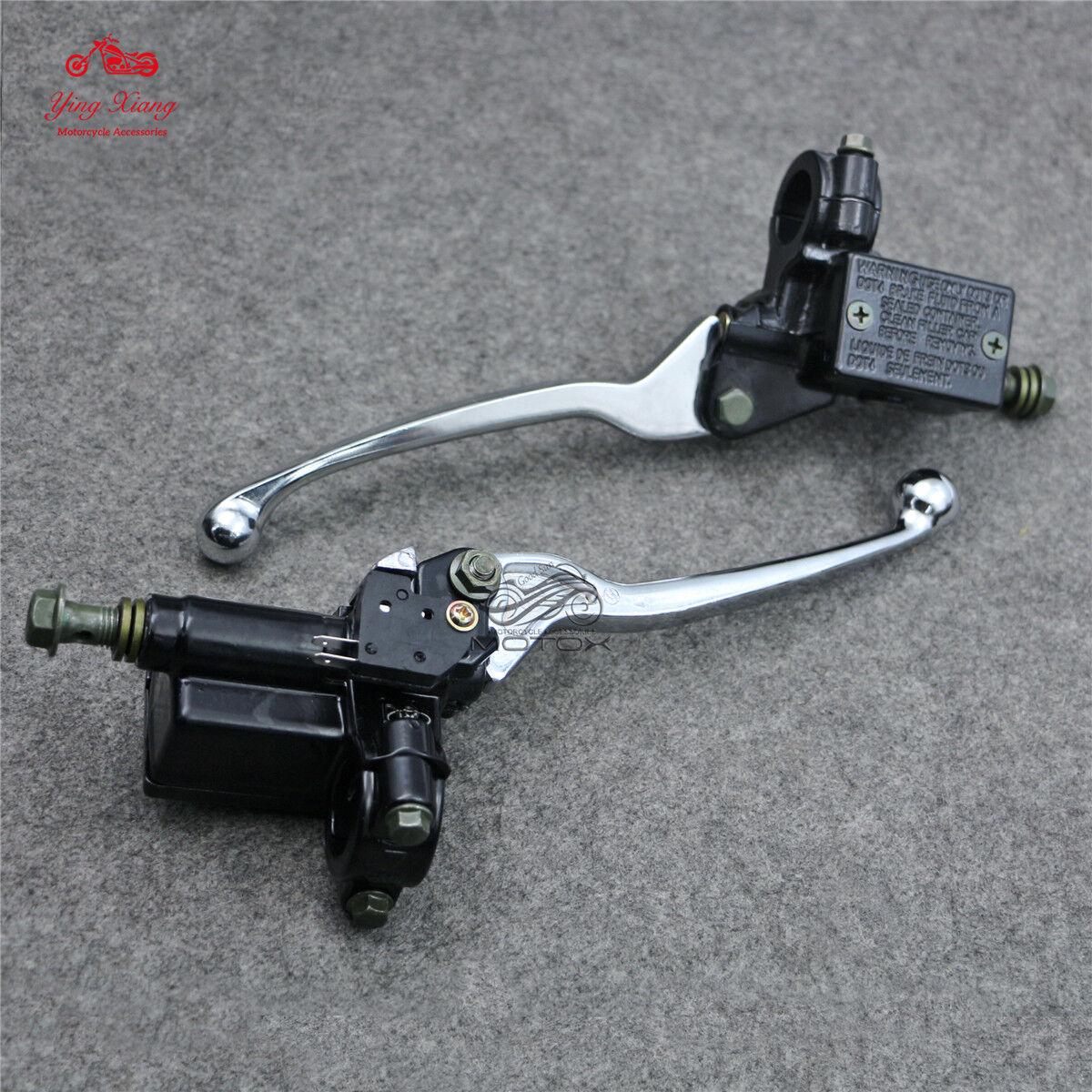 7//8/'/'  Brake Levers Master Cylinder Reservoir For Honda Motorcycle Black