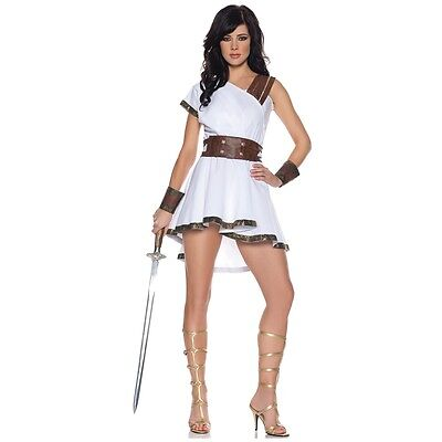 Gladiator Costume Adult Sexy Amazon Warrior Princess Halloween Fancy Dress