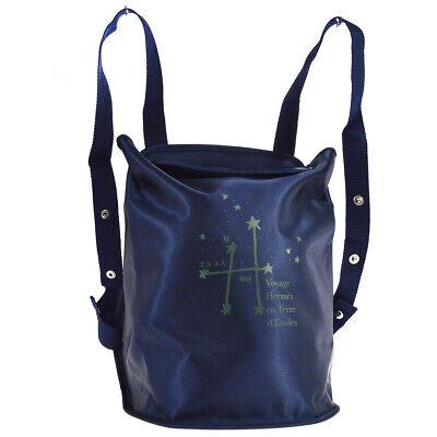 HERMES SHERPA Nylon Backpack Bag Purse Vintage 1999-2000 Exhibition 01470