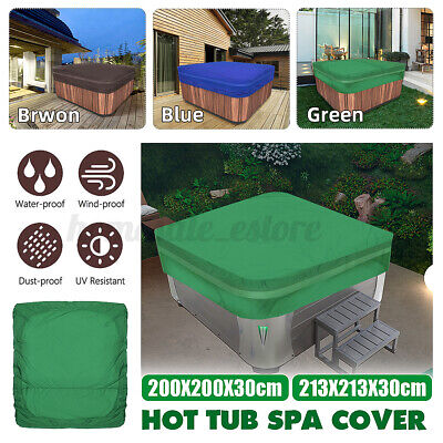 Heavy Duty Outdoor Hot Tub Spa Cover 5 Sizes Waterproof Anti UV Oxford Fabric