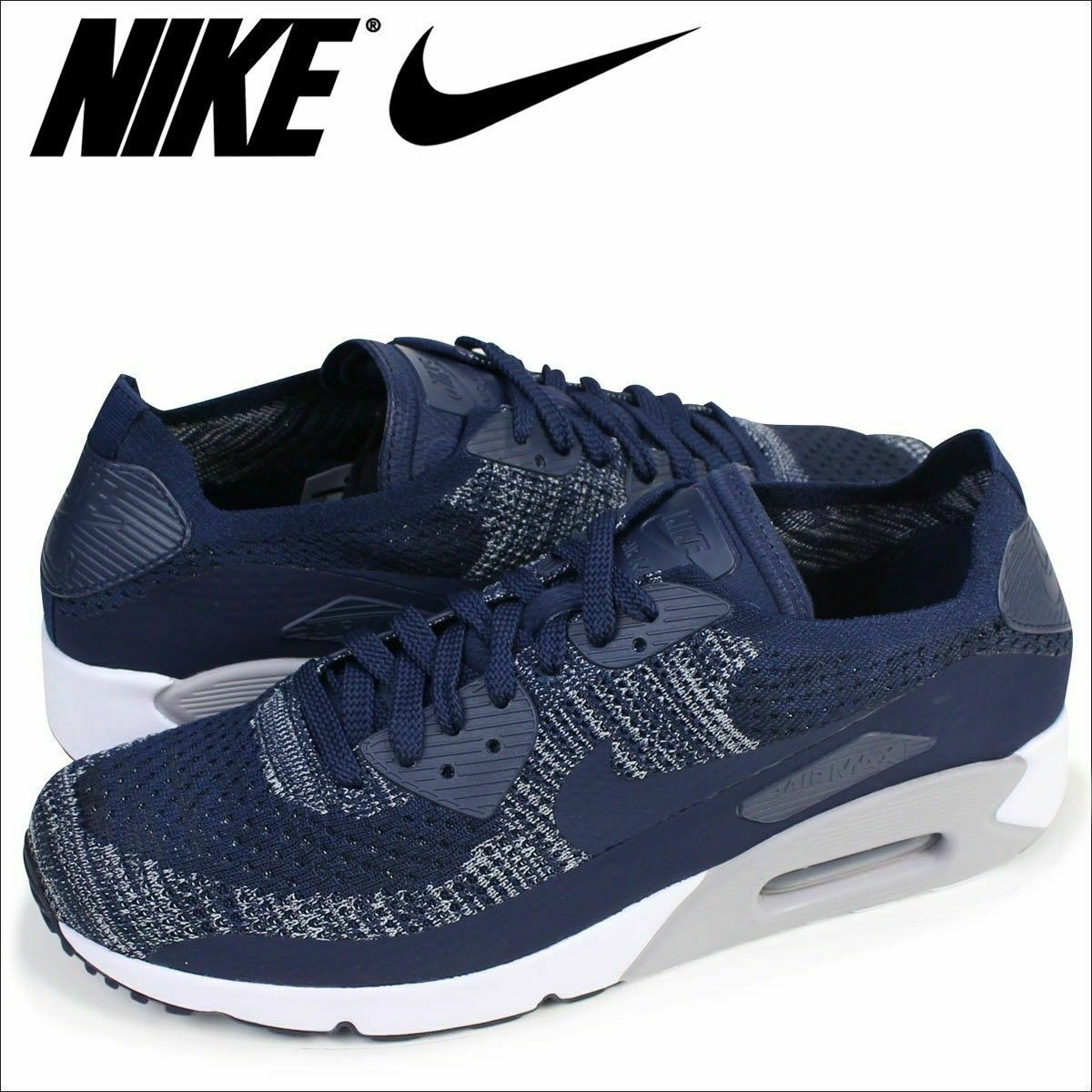 pretty nice 452f9 765a3 Details about Nike Air Max 90 Ultra 2.0 Flyknit Mens Sneakers Running Shoes  875943 401 Sz 12.5