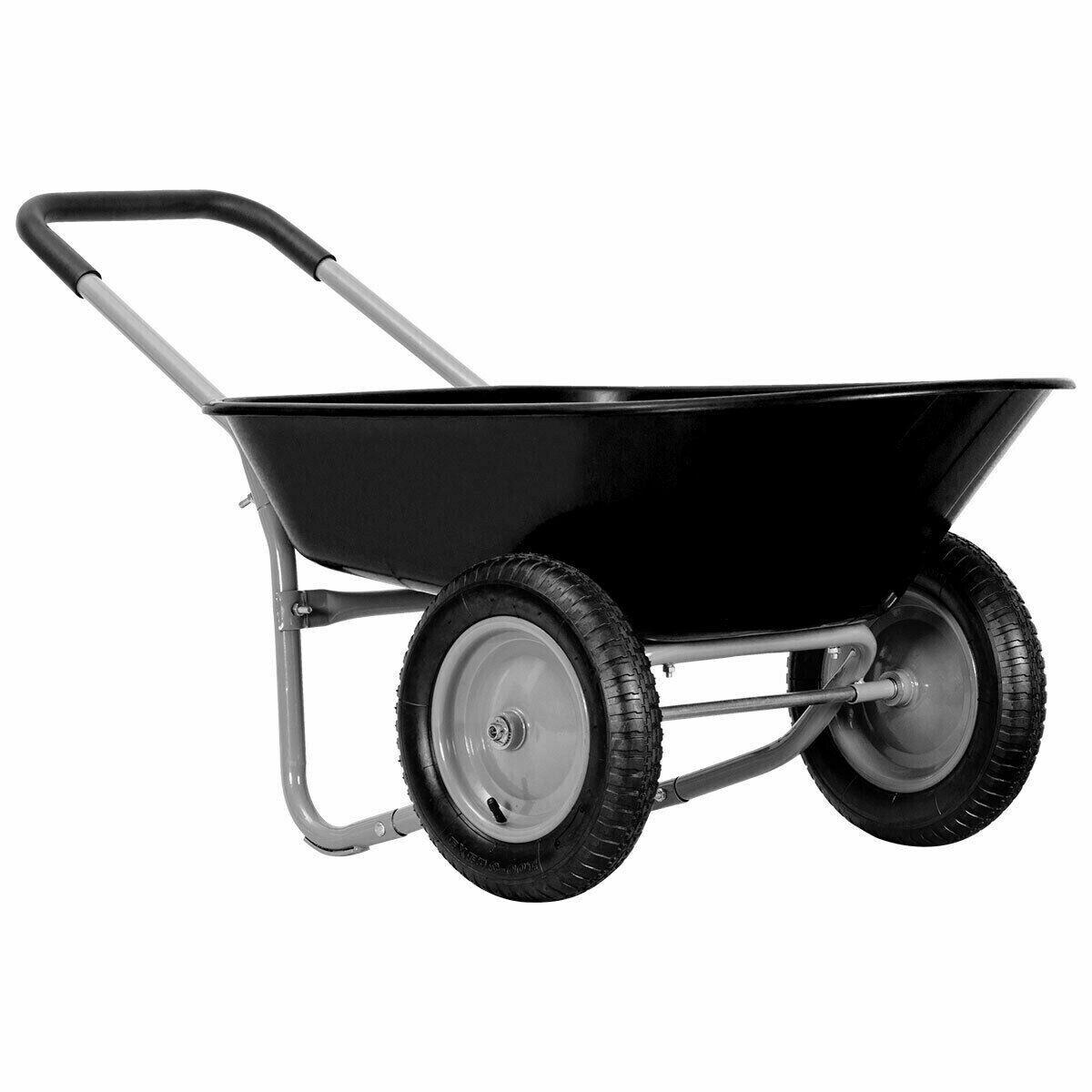 wheelbarrow 2 wheeled heavy duty garden cart