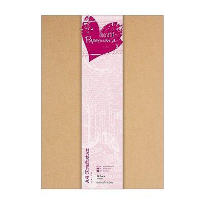 25 x Kraftpapier DIN A4 braun kraft 280g/m² braun Bastel Kraft Papier Docrafts