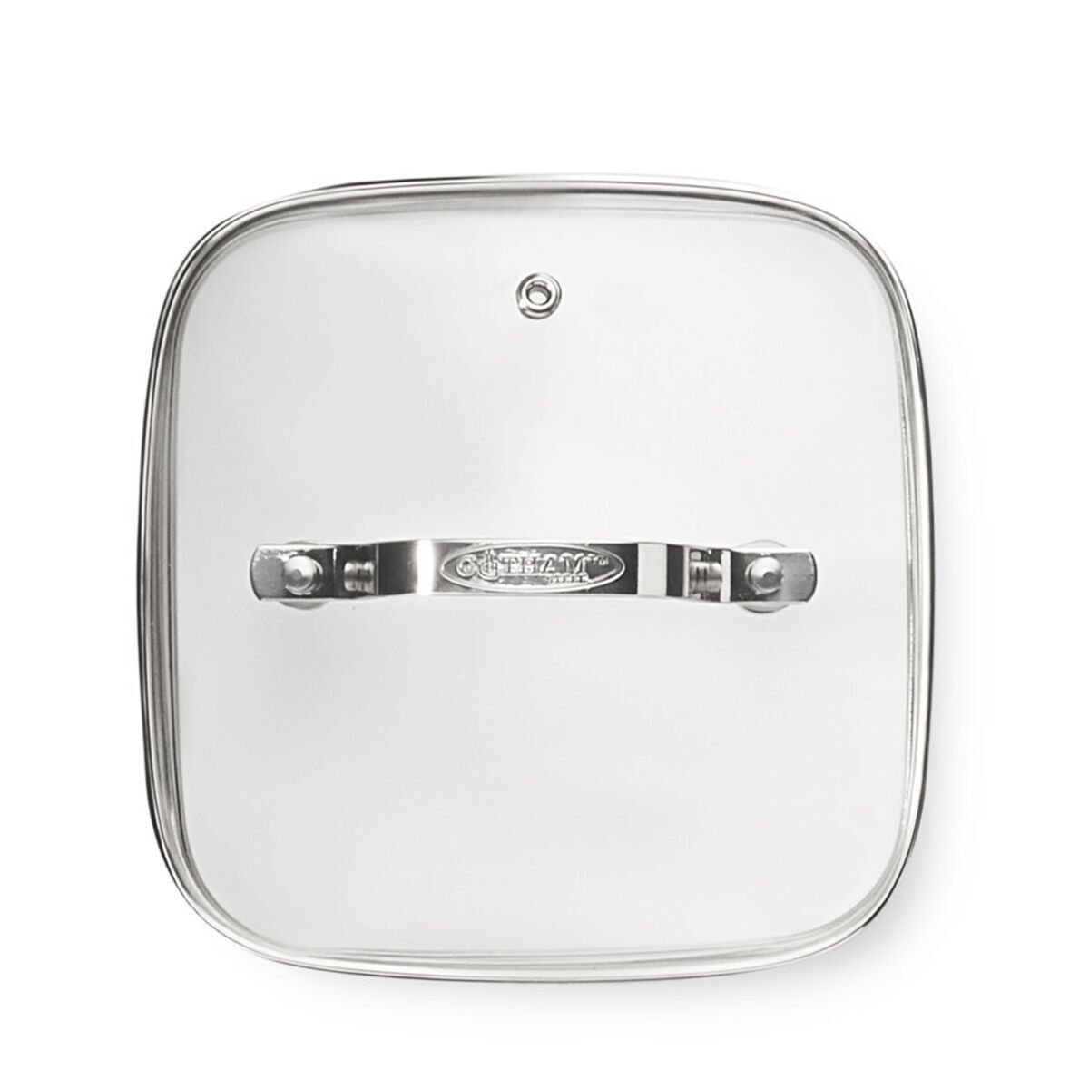 Gotham Steel 2007 Clear Tempered Glass Vented Square Lid, 9.