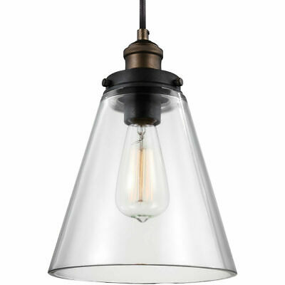 Feiss P1347PAGB/DWZ Baskin Pendant Painted Aged Brass / Dark Weathered (Aged Nickel Crystal Crystal)