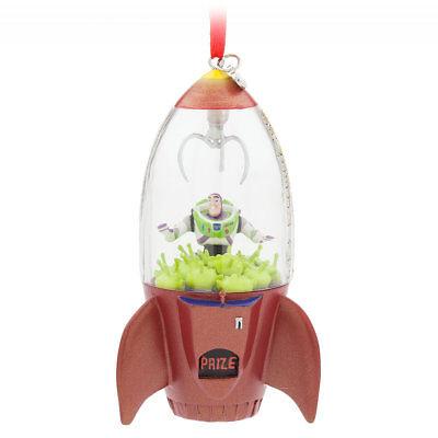 Disney Store Sketchbook 2017 Toy Story Buzz Lightyear and Aliens Ornament NIB